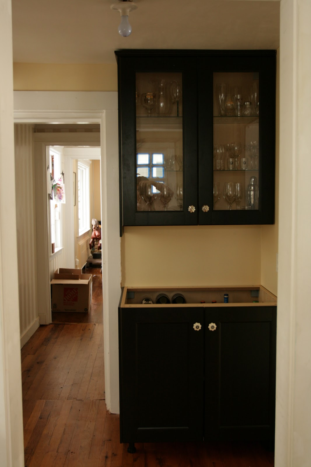 Black Brown IKEA Kitchen Cabinets