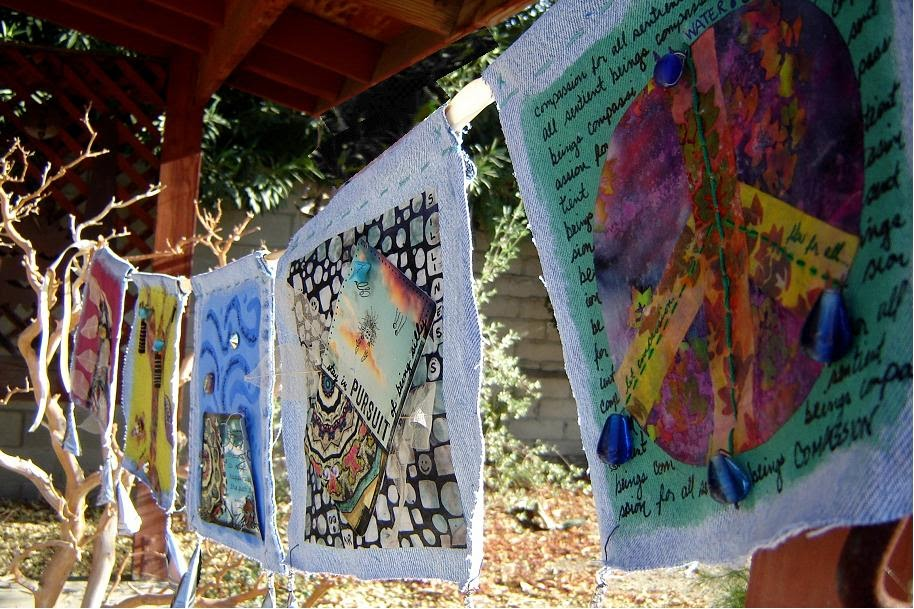 Mouse House ART Creative Intentions Making Prayer Flags