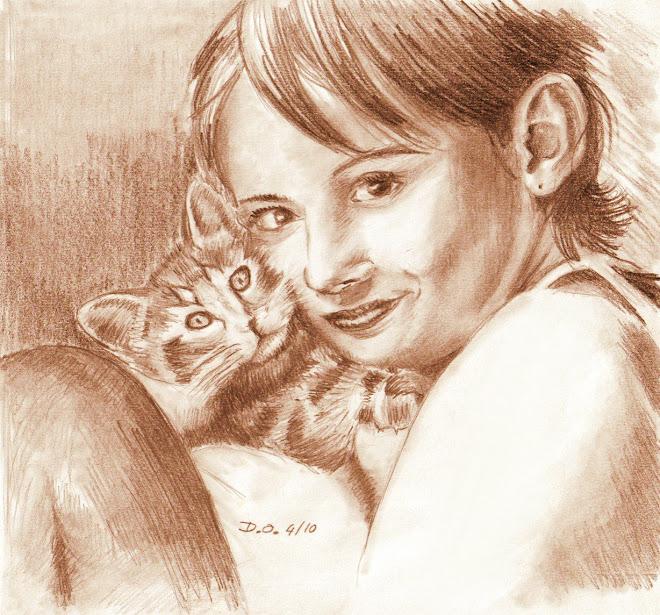 Fillette et son chat