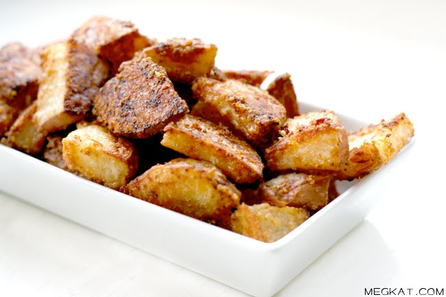 Wendy's Food Files: Parmesan Roasted Potato Wedges