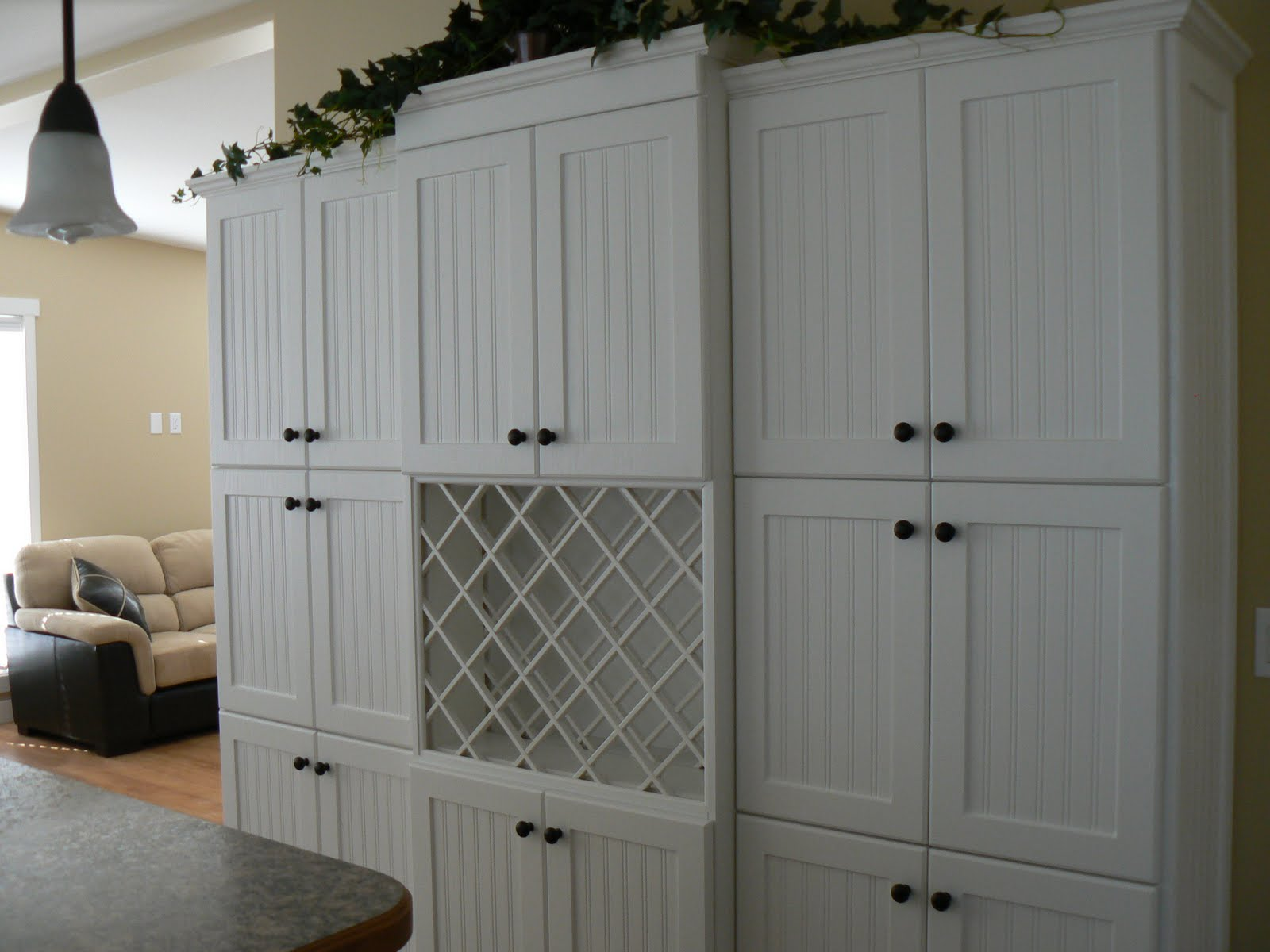 how about this 3 pantry arrangement with wine rack!
