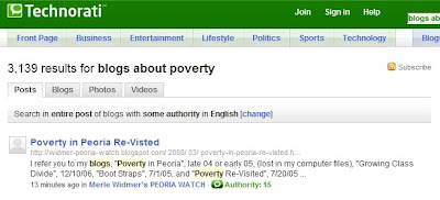 Image of Technorati Home Page