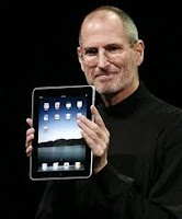 Image of the IPad and Steve Jobs