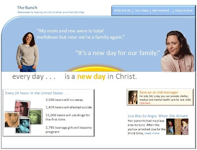 Image of a Nonprofit Web site Example