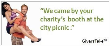 Givers Take Image, We came by your charity's booth a the city picnic.