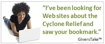 Givers Take Image, I've been looking for Web sites about the Cyclone Relief and saw your bookmark.