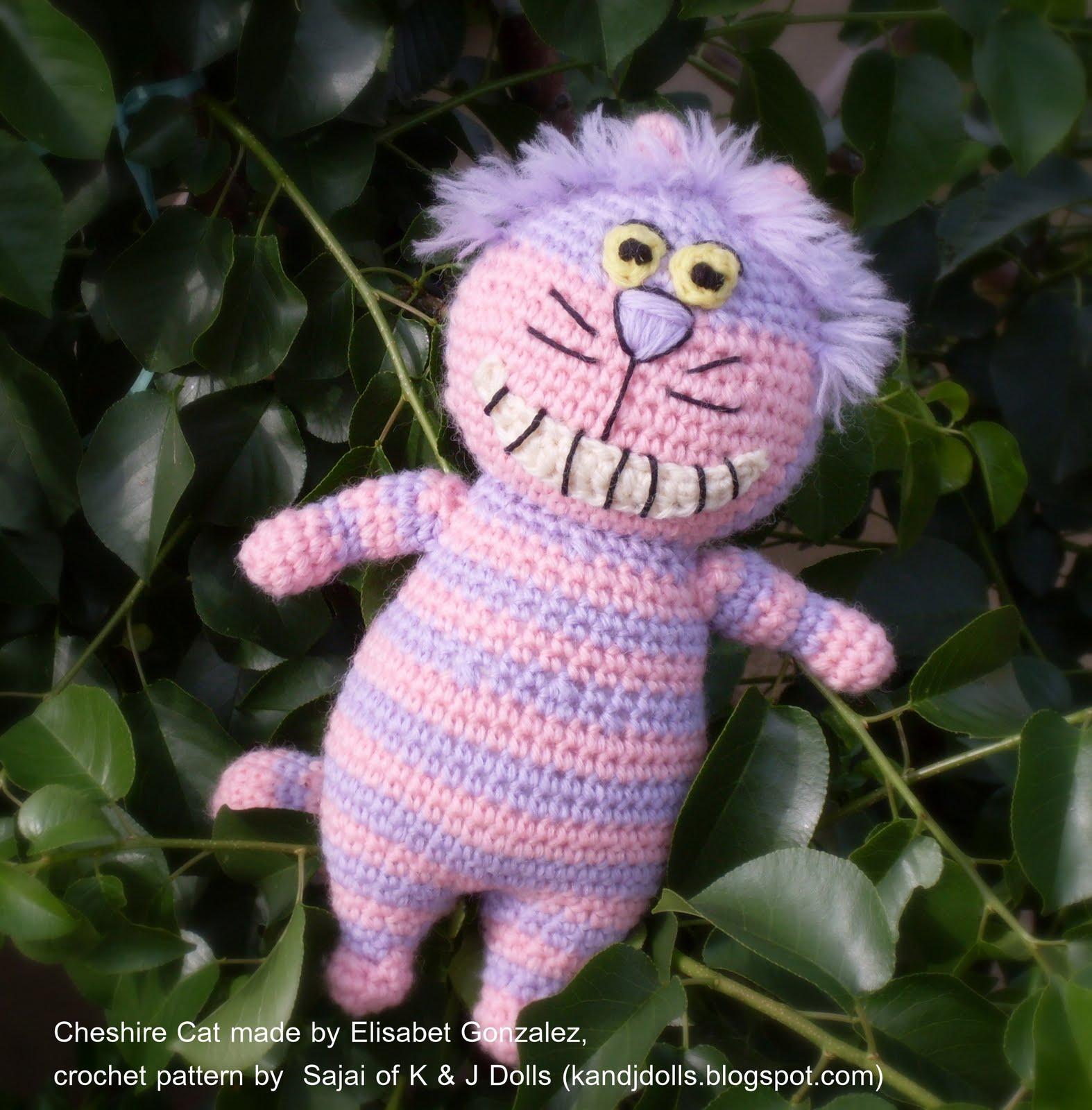 Cheshire Cat Amigurumi : Cheshire Cat - Sayjai Amigurumi Crochet Patterns ~ K and J ...