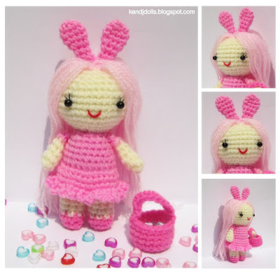 Pink Little Lady free crochet pattern