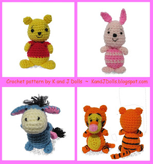 Winnie the Pooh Crochet Patterns - Cross Stitch, Needlepoint