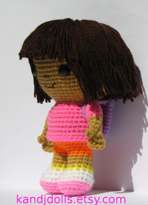Dora the Explorer amigurumi crochet pattern