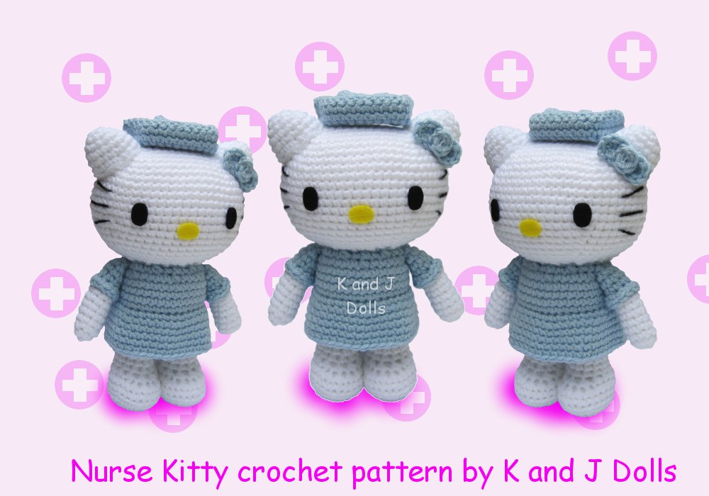 Nurse Kitty Amigurumi Crochet Pattern Sayjai Amigurumi Crochet