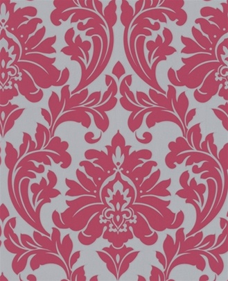 interiors digest majestic wallpaper in pink and grey