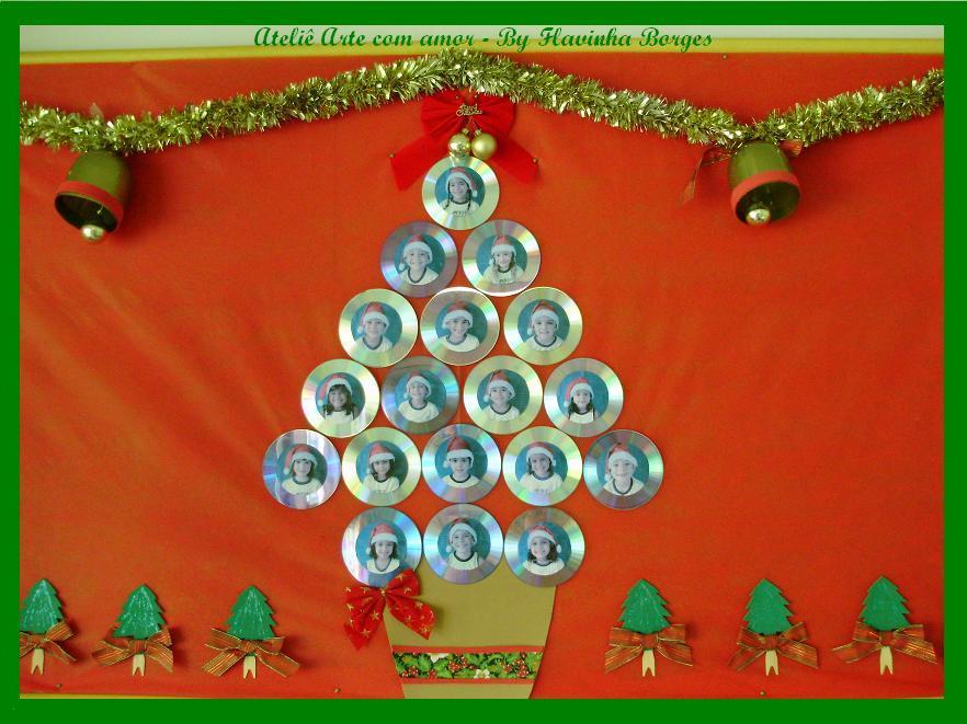 Painel De Natal   Reciclando Cds  Pet E Palitos De Picol