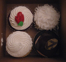Cupcakes from Vegan Treats that we are not having.  But they were good!