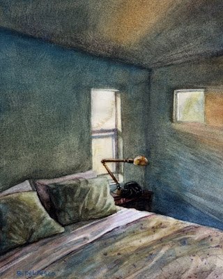 Watercolor: Study for Hibernate - Posted on Friday, February 26, 2010 by Belinda Del Pesco