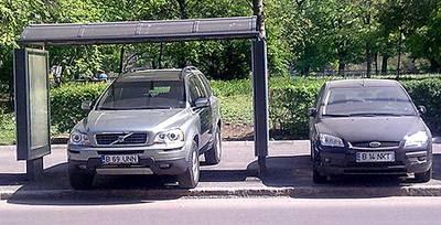 Volvo XC90 SUV parcat aiurea, mai exact B 69 UNN