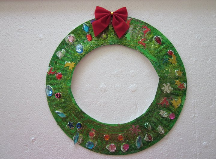 Rhyme time christmas crafts for toddlers for Christmas crafts made out of paper plates
