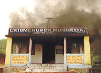Indian Church burning