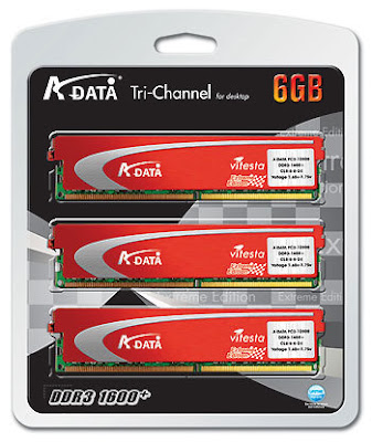 A-Data Vitesta Extreme DDR3-1600+ Tri-Channel 6GB memory kit