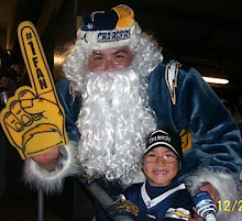 Santa's a Charger fan!