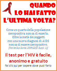 test HIV, centri per esame HIV, AIDS, sito Ministero della Salute