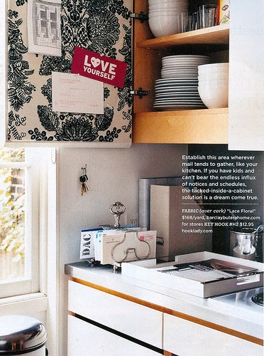 Jpm design creative ways to use wallpaper - Wallpaper on kitchen cabinet doors ...