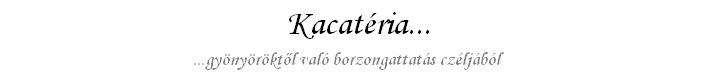 Kacatéria...