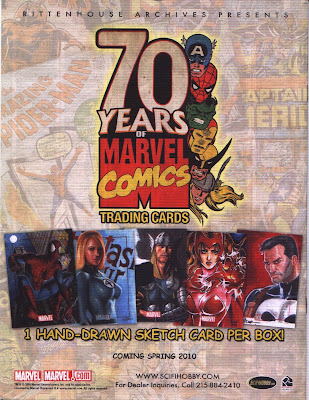 70 Years of Marvel Comics Trading Cards ad