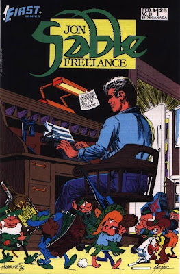 cover of Jon Sable Freelance #33 from First Comics