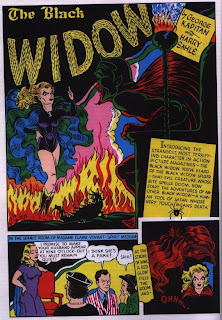 page one of Black Widow story from Women of Marvel magazine