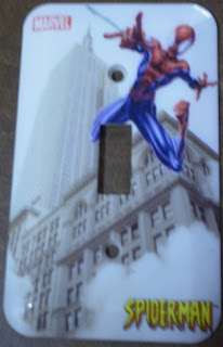 Spider-Man switch plate