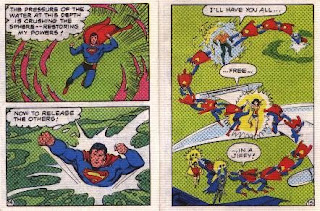 Super Heroes in The Secret of the Sinsiter Lighthouse pages 14 and 15
