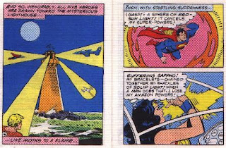 Super Heroes in The Secret of the Sinsiter Lighthouse pages 6 and 7