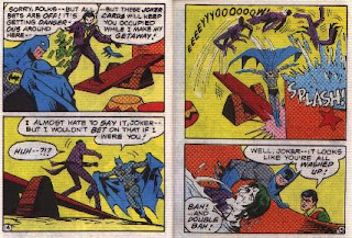 Batman in The Joker's Last Laugh mini comic pages 14 and 15