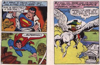Super in Terra-Man's Skyway Robbery pages 4 and 5