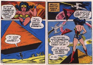 Wonder Woman in The Angle Menace mini comic pages 14 and 15