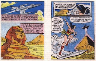 Wonder Woman in The Angle Menace mini comic pages 8 and 9