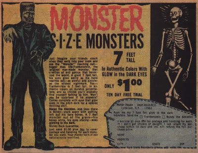 Monster Size Monsters ad from Adventure Comics #436