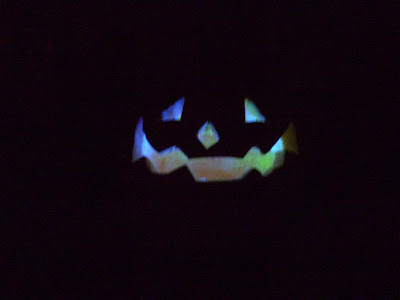 my Jack O Lantern in the dark with changing lights