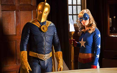 Brent Strait as Doctor Fate and Britt Irvin as Stargirl on Smallville