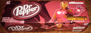 top of Dr Pepper Iron Man 2 box