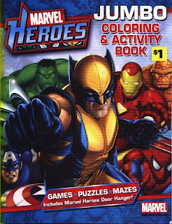 front cover of Marvel Heroes Jumbo Coloring & Activity Book