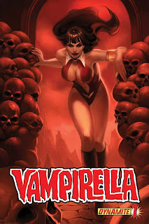 Cover of Vampirella #1 from Dynamite by Jelena Kevic-Djurdjevic and Alex Ross