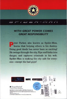 Back cover of Spider-Man Saves the Day