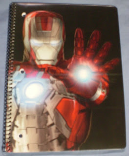 Front cover of Iron Man 2 Blaster notebook