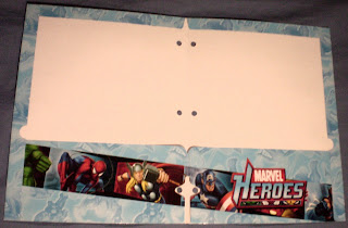 Interior of Marvel Heroes portfolio