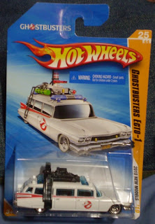 Front of Hot Wheels Ghostbusters Ecto-1