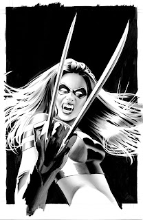 Black and white X23 #2 cover artwork by Mike Mayhew