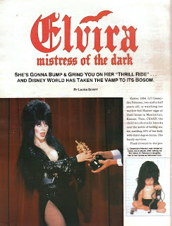 Elvira article page 1 from Femme Fatales vol 6 #7