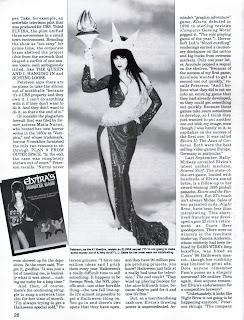 Elvira article page 5 from Femme Fatales vol 6 #7